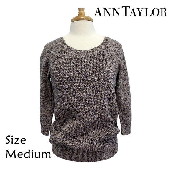 Ann Taylor Heathered Gray Sweater Size Medium